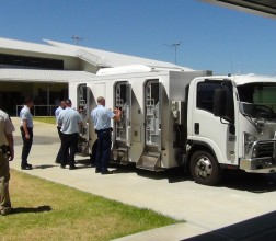 Image of a secure transport vehicle at Hakea
