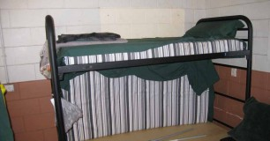 Photo of typical bunk bed at Roebourne