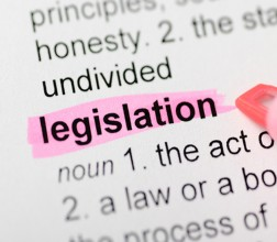 Image of a paper with the word legislation highlighted