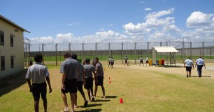 Image of detainees exercising at Hakea Juvenile Facility (March 2013)
