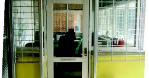 Image of unit office reinforced with security grills
