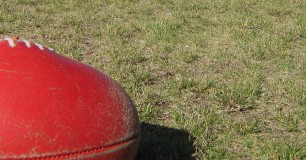 Image of a football on the oval at Rangeview Remand Centre