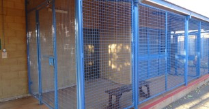 Caged waiting area for the health centre