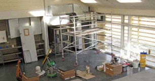 Photo of refurbishment underway of Unit 3
