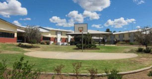 Photo of Acacia unit and basketball court