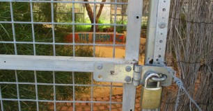 Cultural meeting place behind locked metal gate