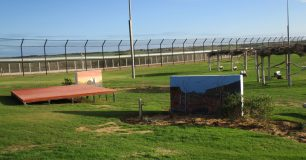 Image of the outlook to the oval, at Greenough Regional Prison