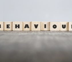 Building blocks spelling out the word Behaviour